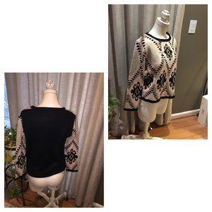Versatile Black and Tan sweater